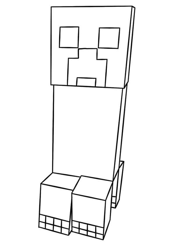 creeper coloring pages minecraft steve creeper enderman free printable coloring creeper pages coloring