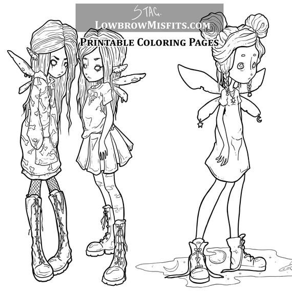 creepy fairy coloring pages creepy anime girl fairy coloring pages printable creepy fairy coloring pages