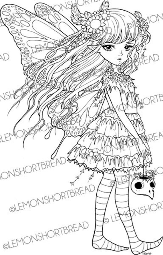 creepy fairy coloring pages pin on adult colouring creepy pages fairy coloring