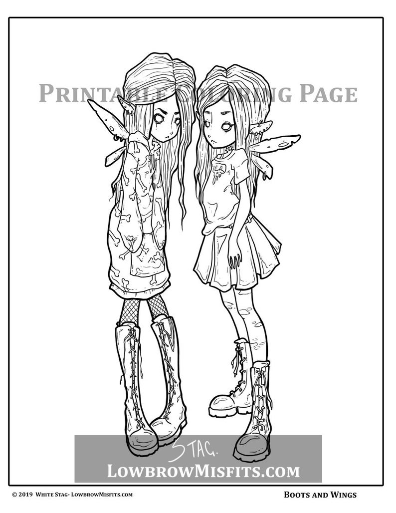 creepy fairy coloring pages preparationbytevokkiadeviantartcomondeviantart coloring fairy creepy pages