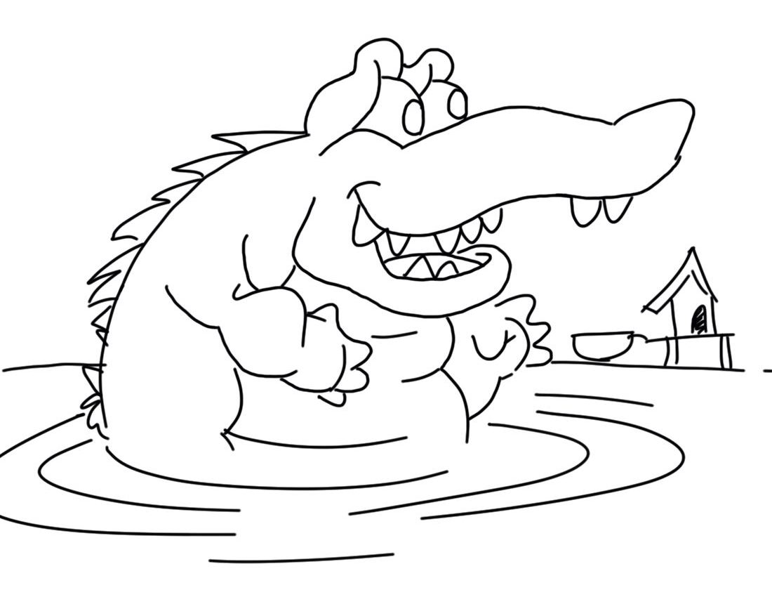 crocodile color crocodile coloring pages to download and print for free crocodile color 1 1