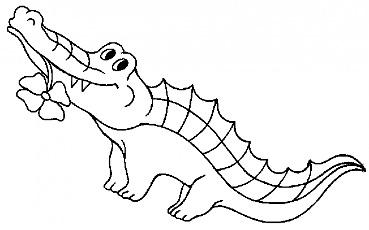 crocodile color free coloring pages crocodiles color crocodile