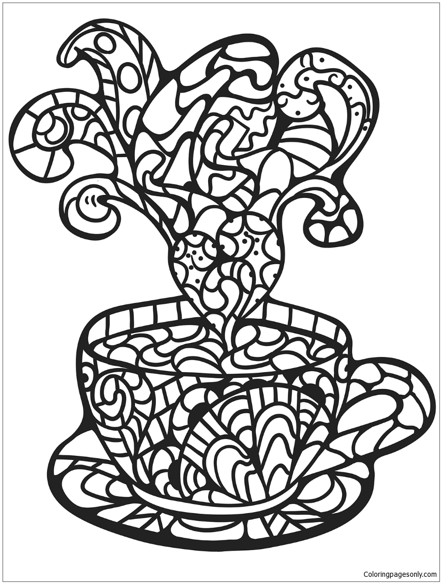 cup coloring page tea cup coloring page cup coloring page