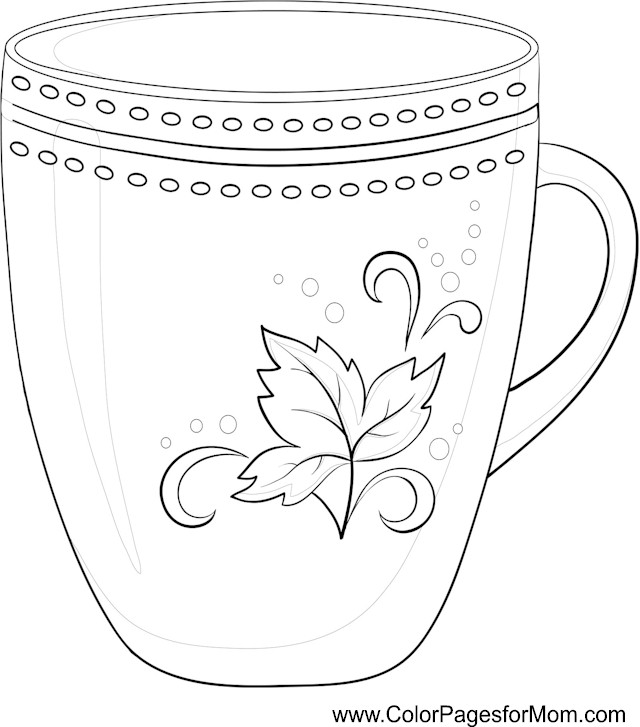 cup coloring page tea sets drawing and coloring cup teapot toy learn cup coloring page