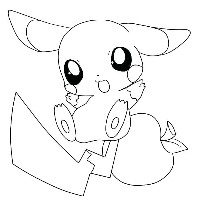 Cute adorable pikachu coloring pages