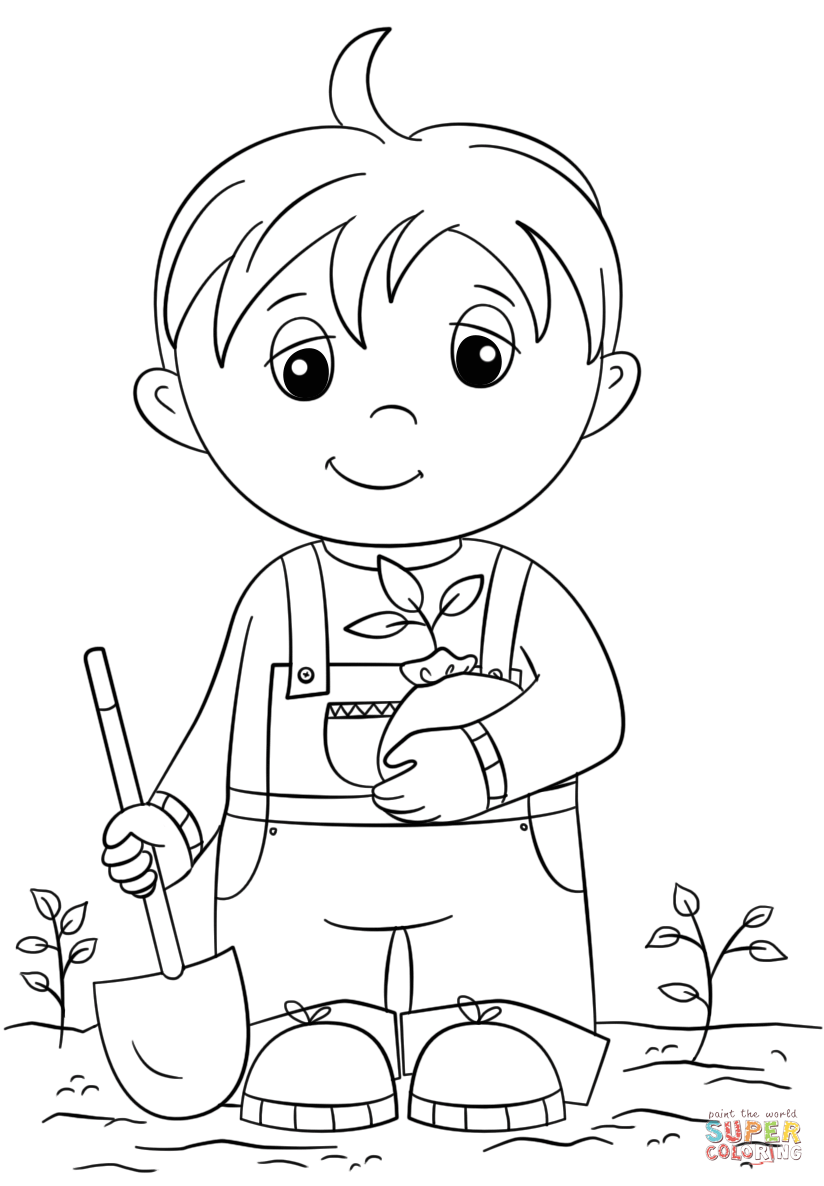 Cute boys coloring pages