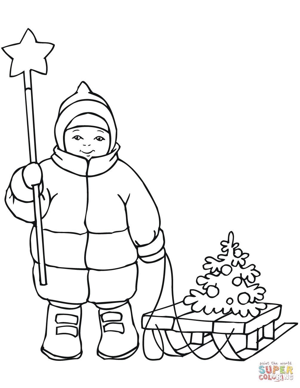 cute boys coloring pages cute boy with christmas star and sled coloring page free coloring boys pages cute