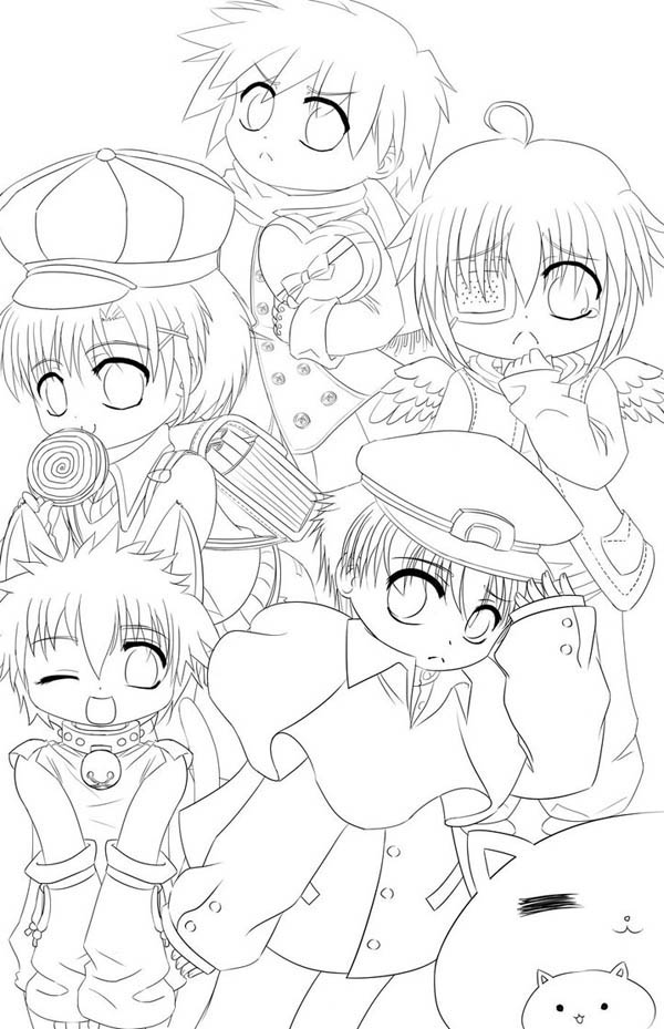 cute boys coloring pages cute boys chibi drawing coloring page netart boys cute pages coloring