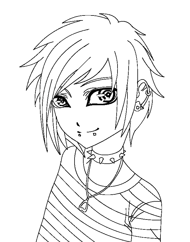 cute boys coloring pages emo boy lineart by kawaiijuraculmihawk on deviantart boys coloring pages cute