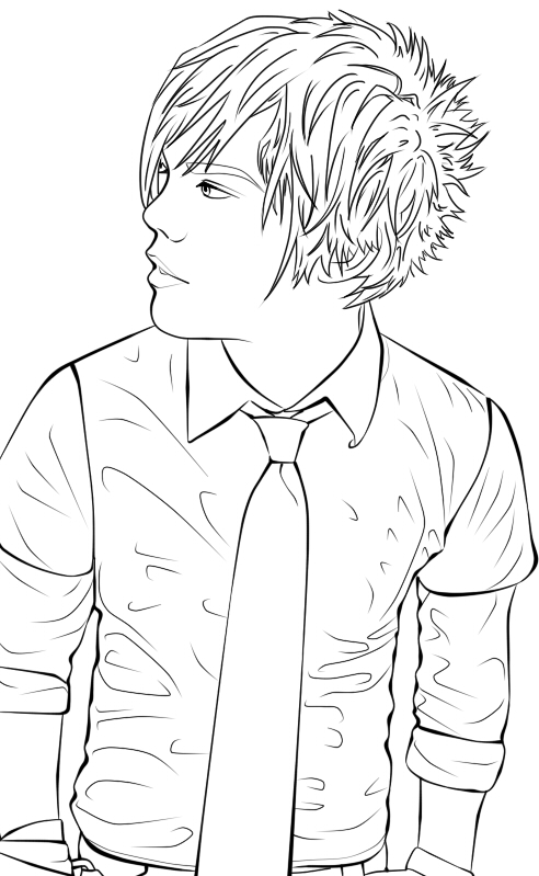 cute boys coloring pages emo boy lineart by naruto 1949 on deviantart cute coloring boys pages