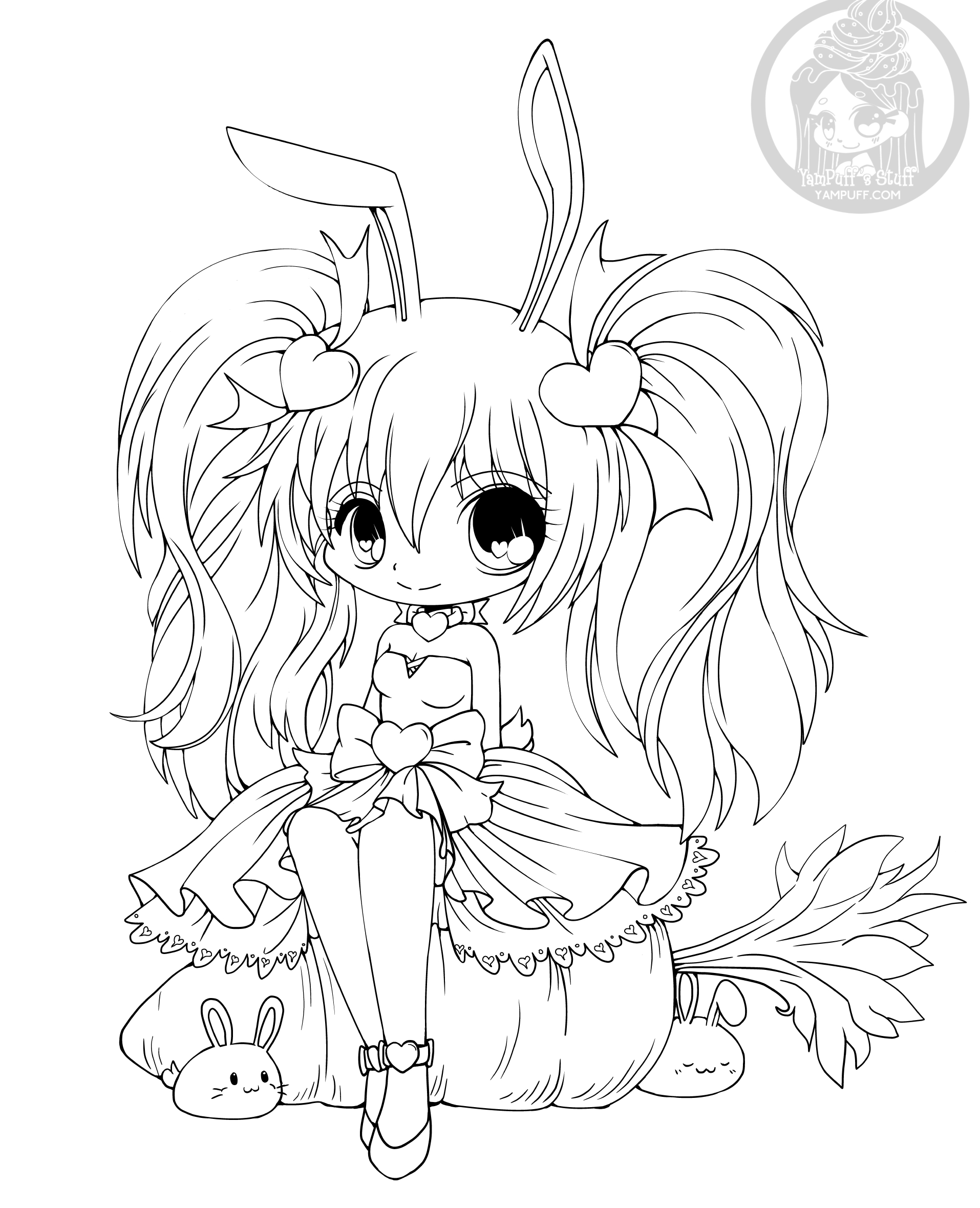 cute chibi girl coloring pages 28 collection of kawaii wolf girl coloring pages high pages girl cute chibi coloring