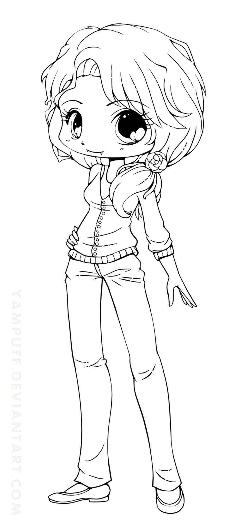 cute chibi girl coloring pages chibis free chibi coloring pages yampuff39s stuff girl pages chibi coloring cute