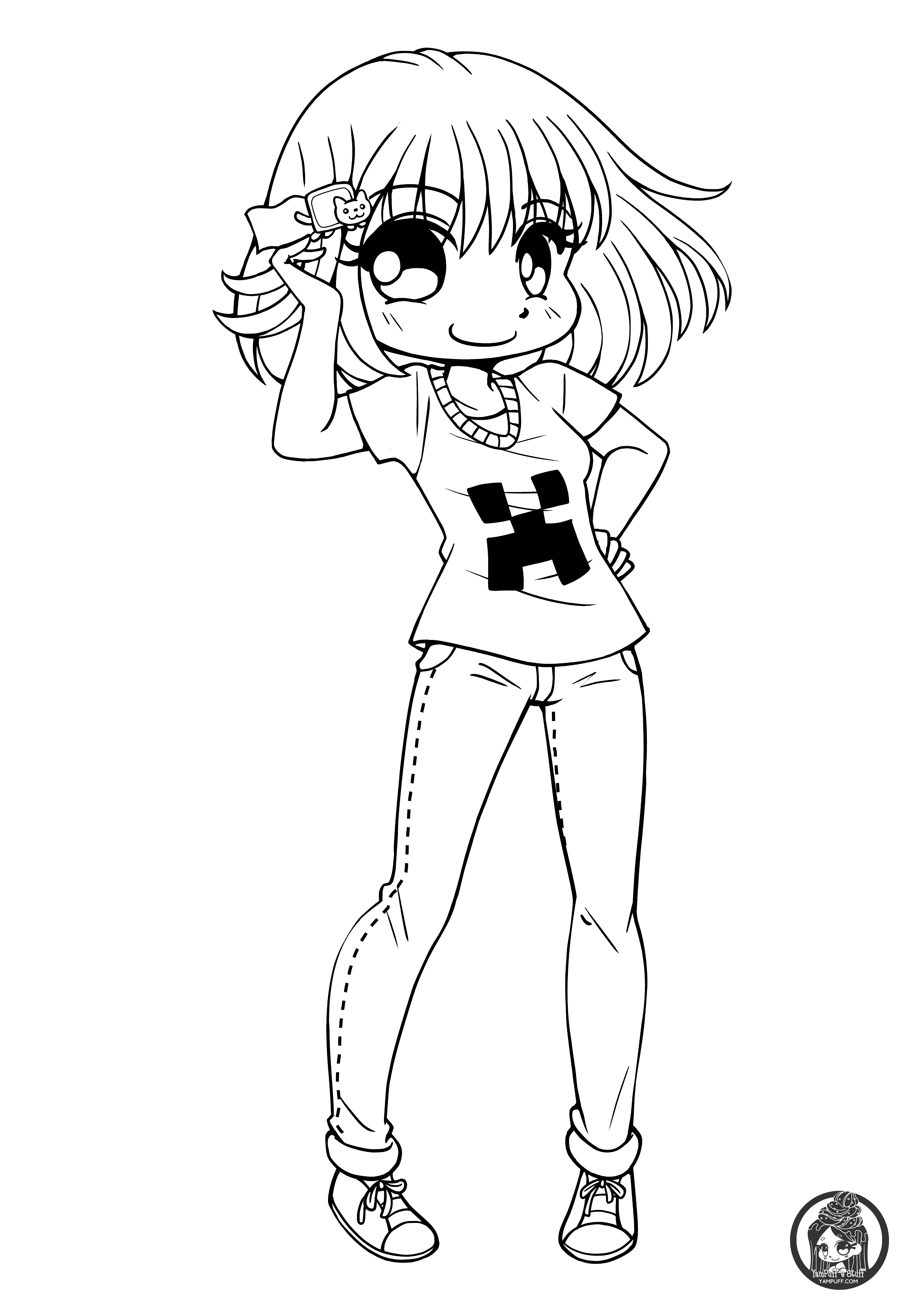 cute chibi girl coloring pages chibis free chibi coloring pages yampuff39s stuff pages chibi coloring girl cute
