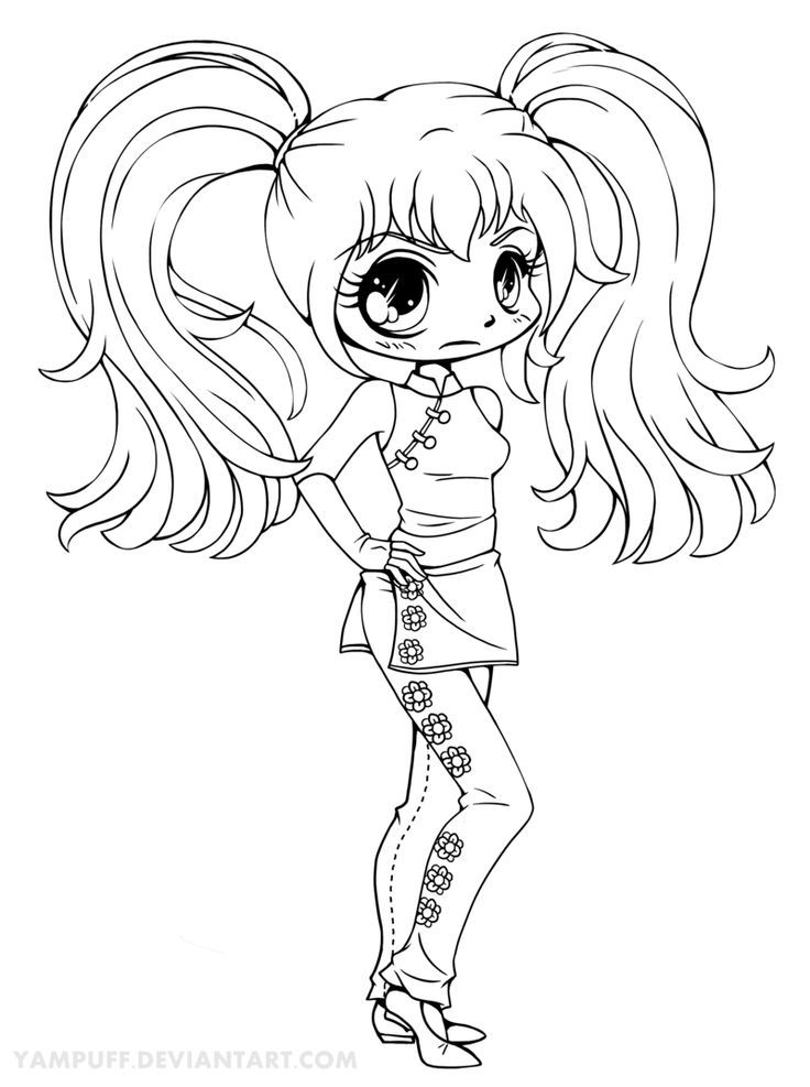 cute chibi girl coloring pages coloring pagepretty chibi coloring page cute cookie pages chibi coloring girl cute