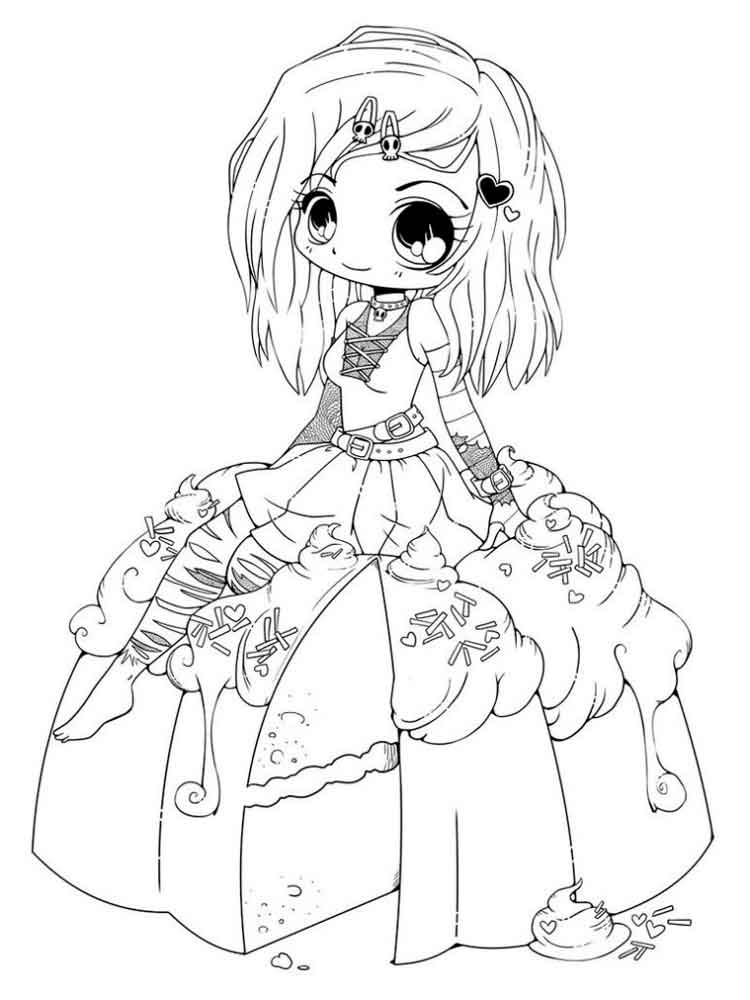 cute chibi girl coloring pages fanart free chibi colouring pages yampuff39s stuff chibi girl coloring pages cute