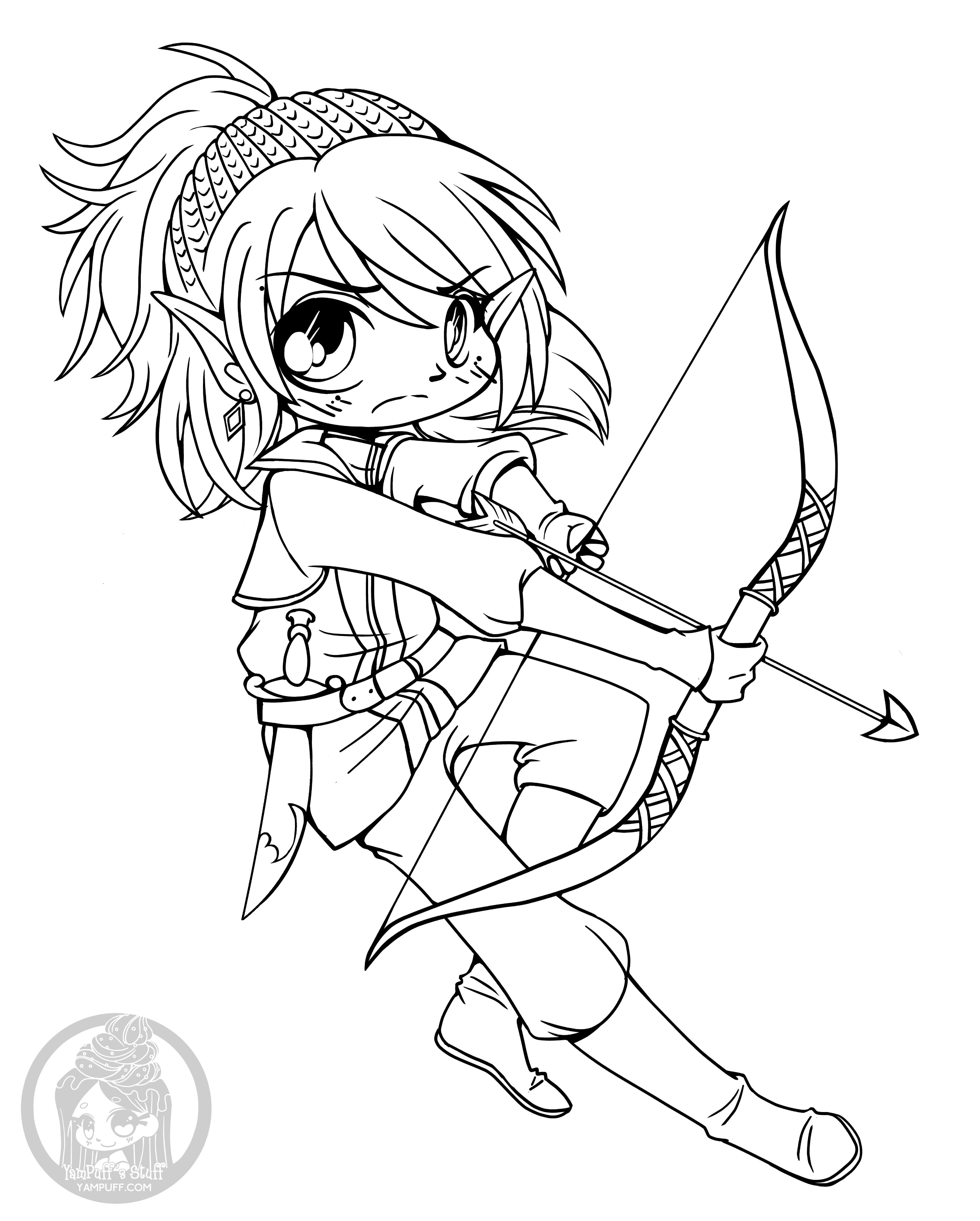 cute chibi girl coloring pages vermillia chibi lineart commission by yampuff on deviantart cute chibi pages girl coloring