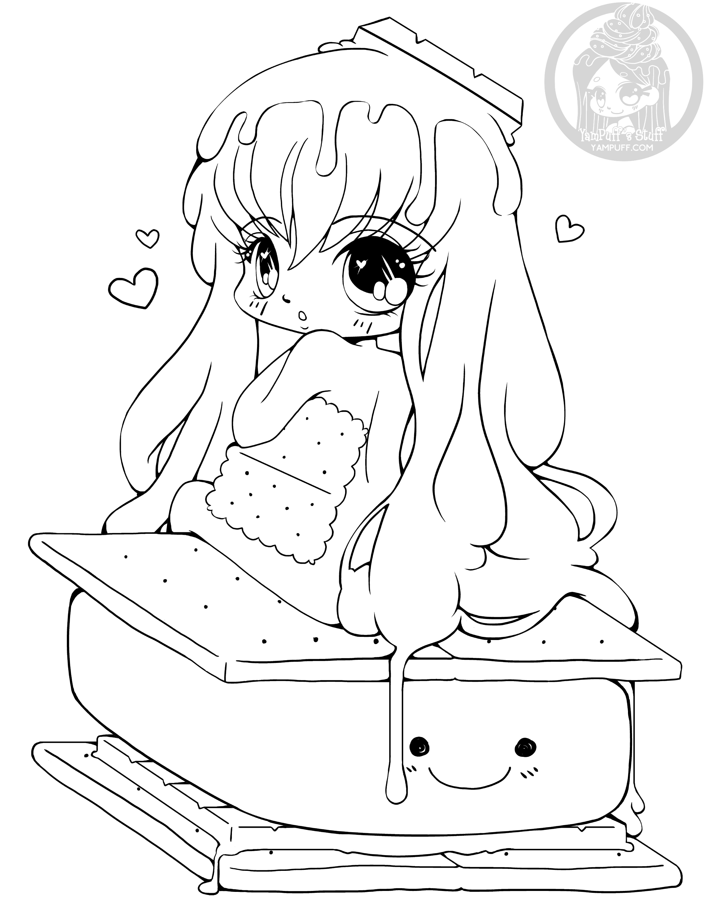 cute chibi girl coloring pages yampuff fanclub kleurplaat google zoeken chibi girl cute chibi pages coloring