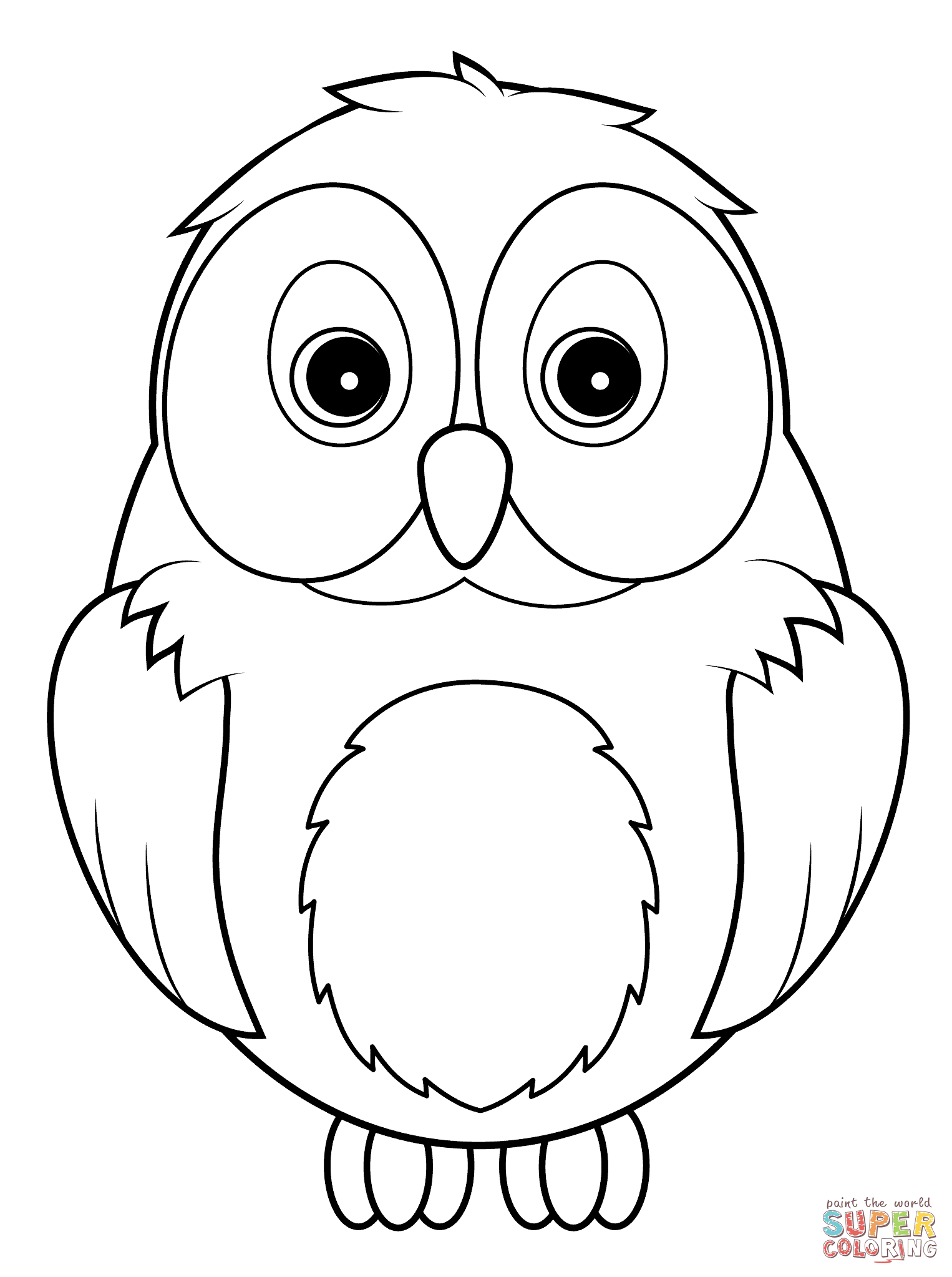 Cute coloring pages of owls
