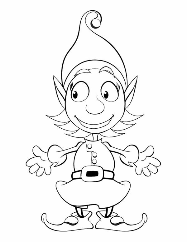 cute elf coloring pages activity shelter coloring cute pages elf