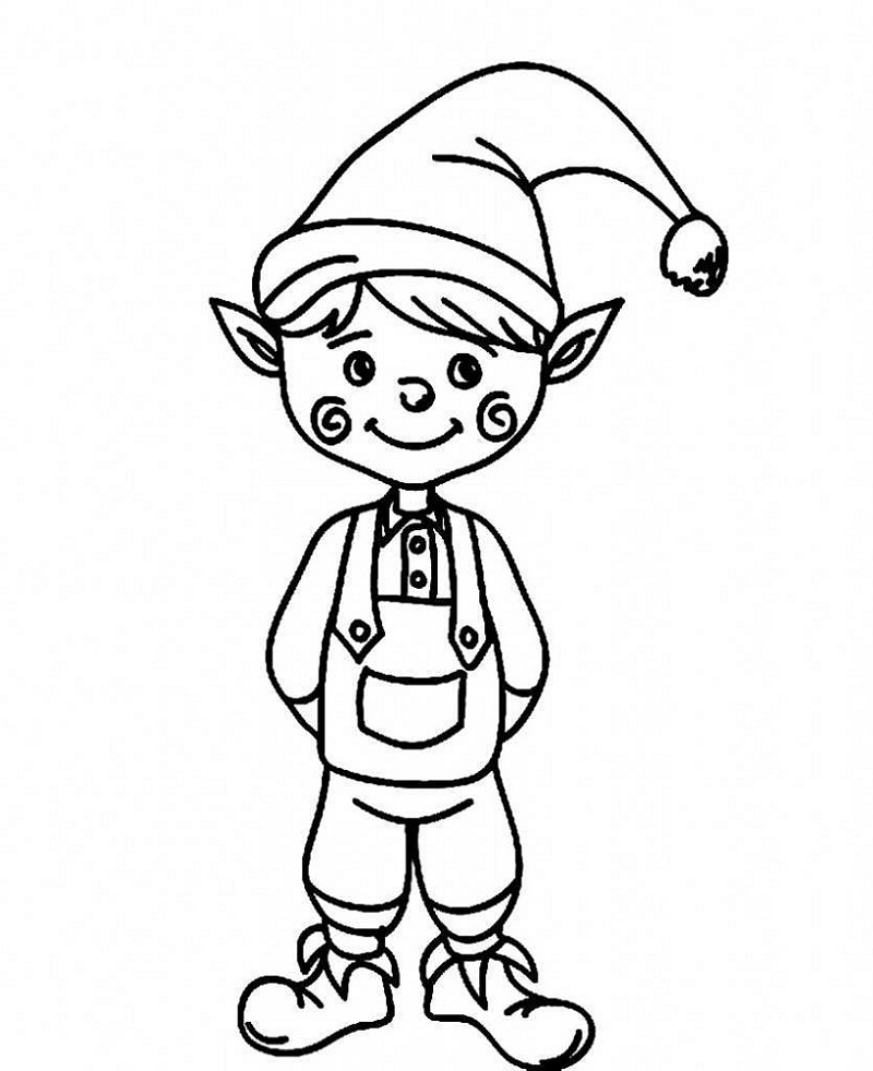 cute elf coloring pages christmas elf coloring pages printable christmas pages cute coloring elf