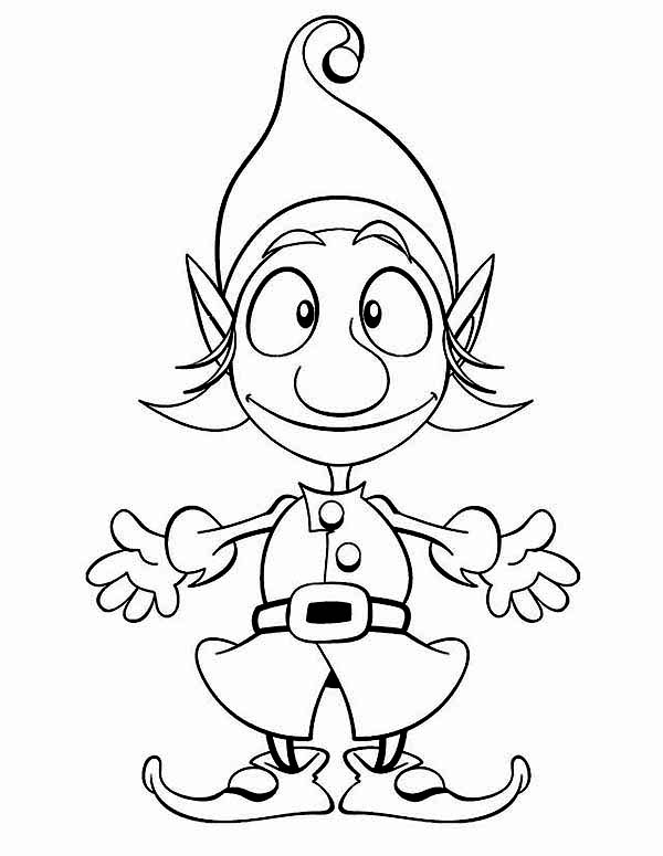 cute elf coloring pages cute easy elf drawing creative art elf pages coloring cute