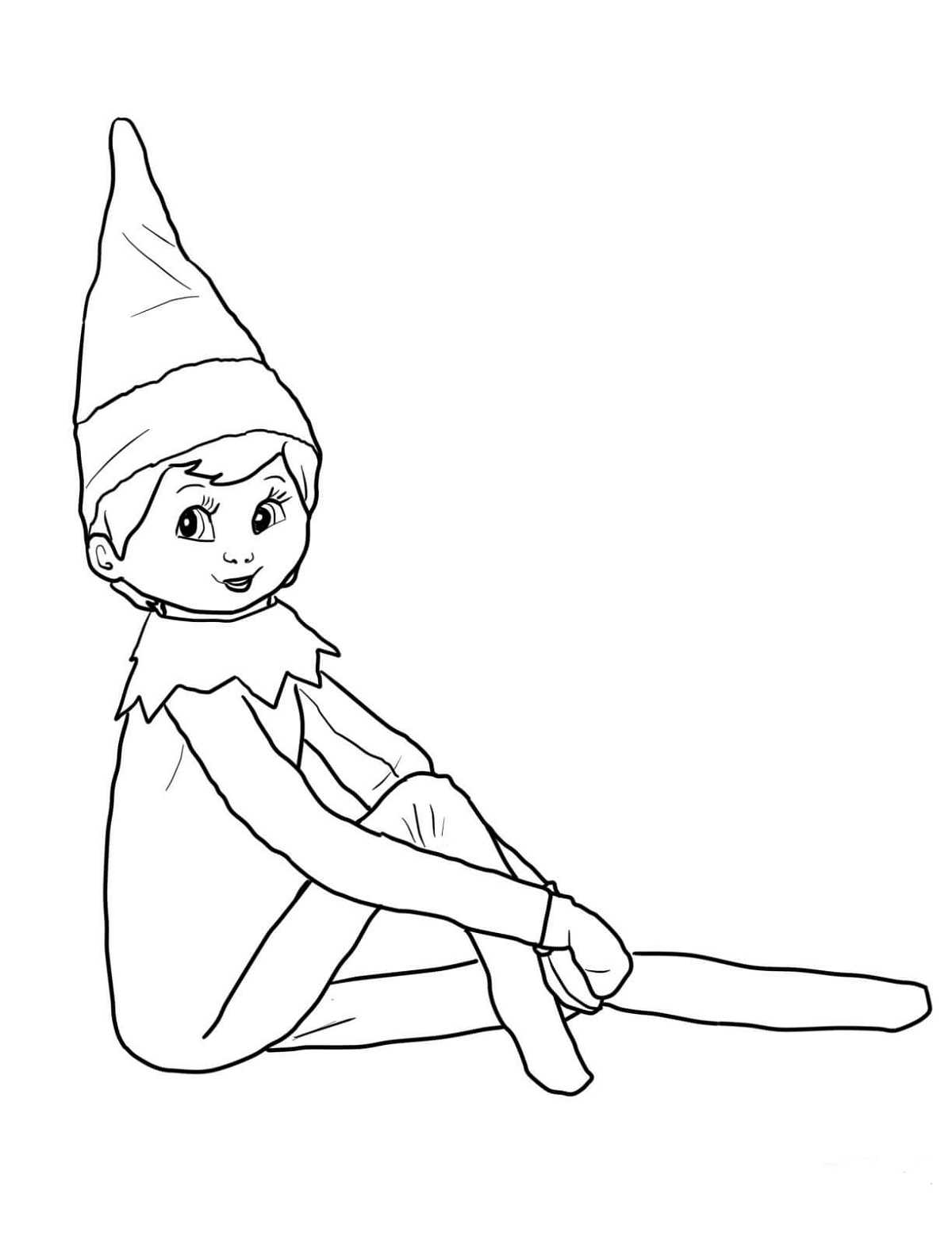 cute elf coloring pages elf clipart coloring page elf coloring page transparent cute elf coloring pages