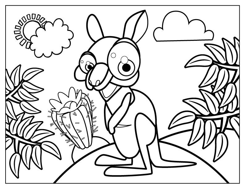 cute kangaroo coloring page how to draw a baby kangaroo baby kangaroo step by step coloring kangaroo page cute