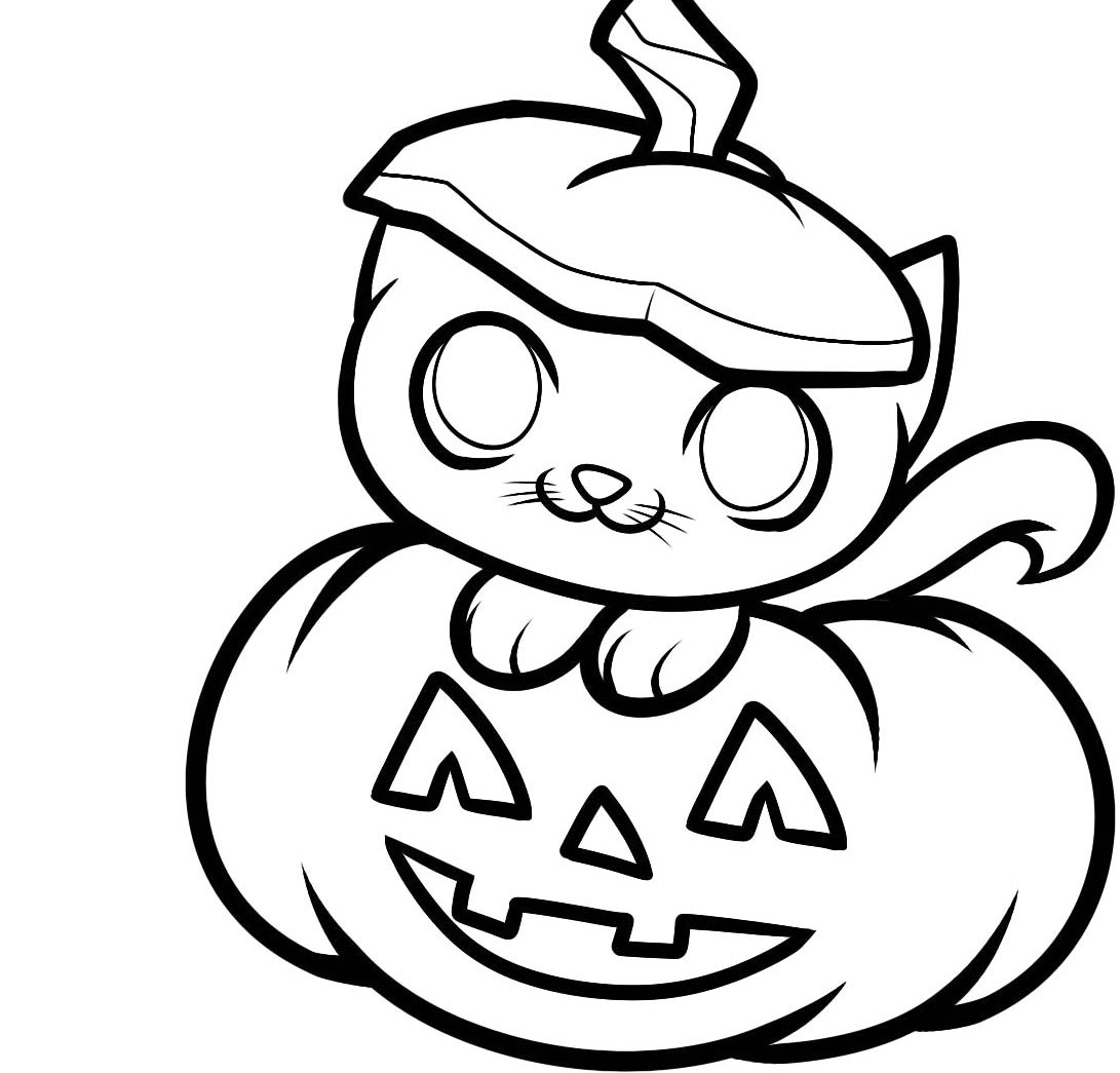 Cute pumpkin coloring pages