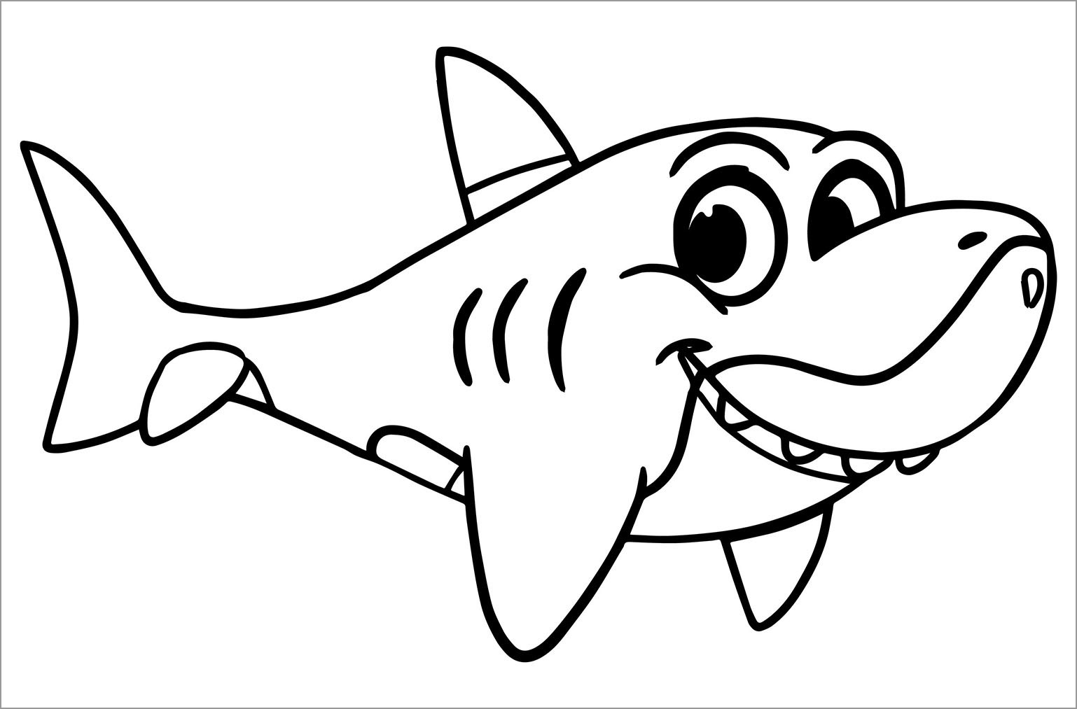 cute shark coloring pages baby shark coloring pages at getdrawings free download coloring shark cute pages