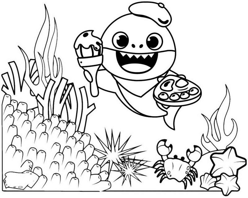cute shark coloring pages cute baby shark coloring page mitraland coloring pages cute shark