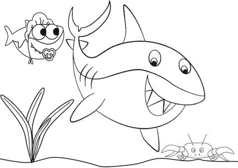 cute shark coloring pages get this baby shark coloring pages 31672 cute coloring shark pages