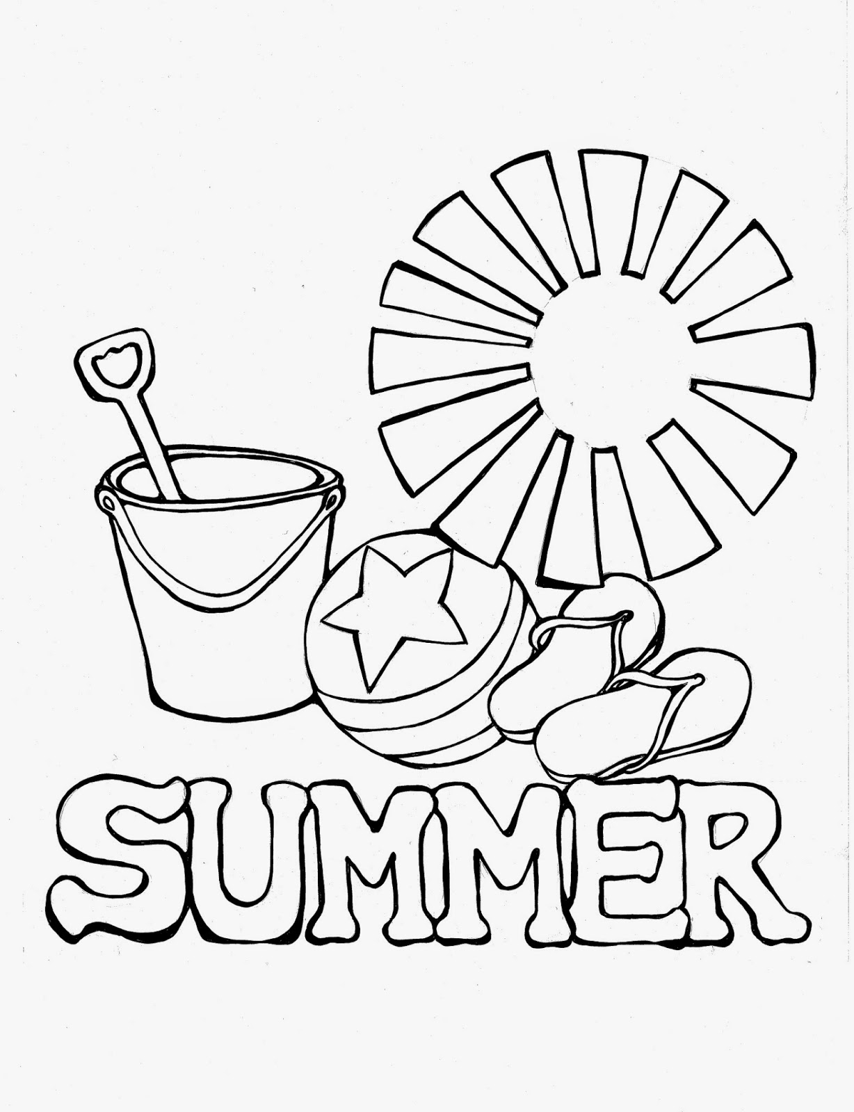 cute summer coloring pages blogginess colour draw cute summer coloring pages