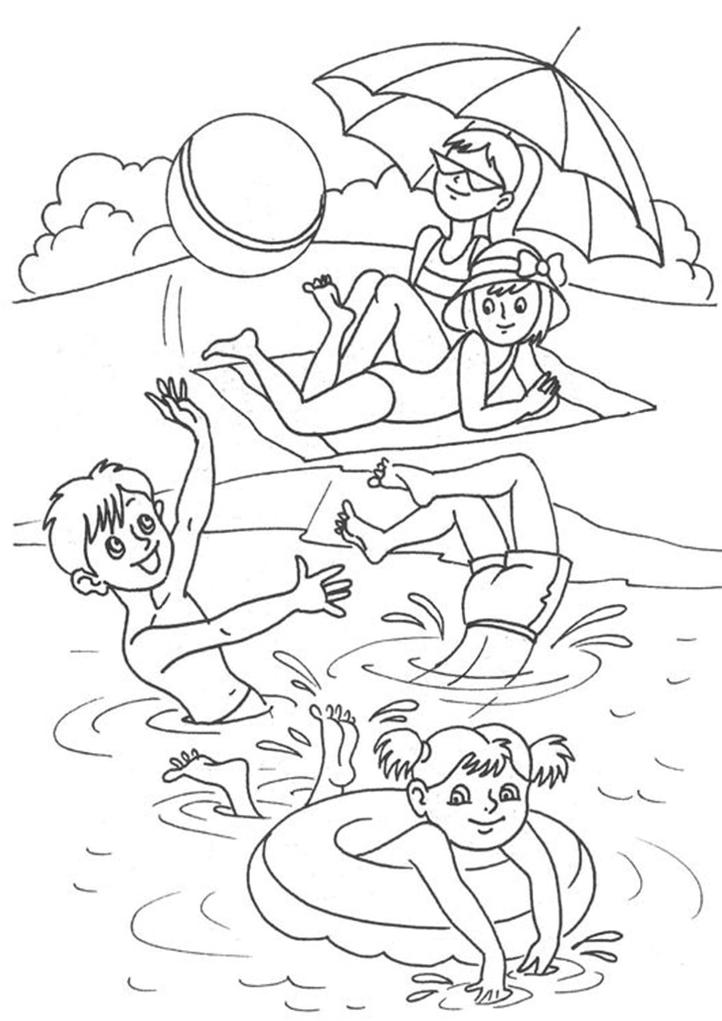 cute summer coloring pages free easy to print summer coloring pages in 2020 summer coloring cute pages