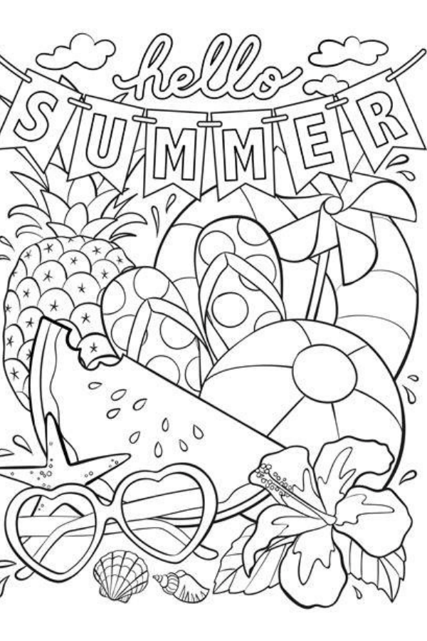cute summer coloring pages freie hallo sommer ausmalbilder download bereit plus pages coloring cute summer