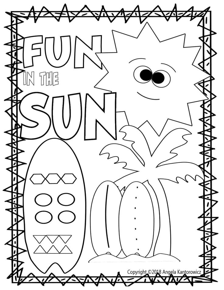 cute summer coloring pages fun in the sun color sheet free teacher resource free coloring pages summer cute