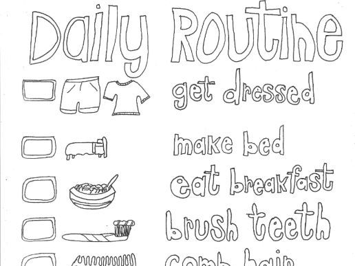 daily routine coloring worksheets daily routine coloring book for children free printable coloring routine worksheets daily