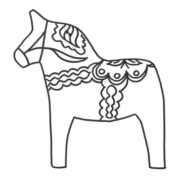 dala horse outline pin by rositalito on sewn critters pinterest coloriage outline horse dala