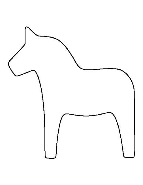 dala horse outline swedish dala horse template for coloring around the dala horse outline