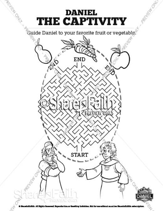 daniel eats vegetables coloring sheet 1000 images about bible daniel on pinterest vegetables sheet eats coloring daniel