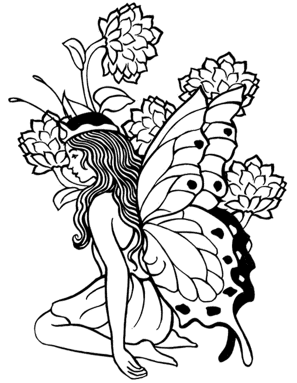 dark fairy coloring pages free printable coloring pages for adults dark fairies dark fairy coloring pages