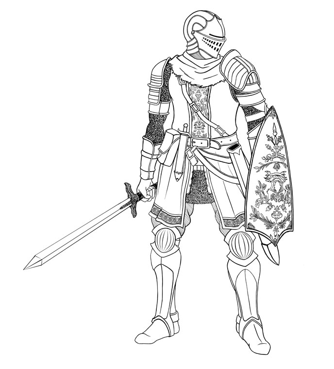 Dark souls coloring pages