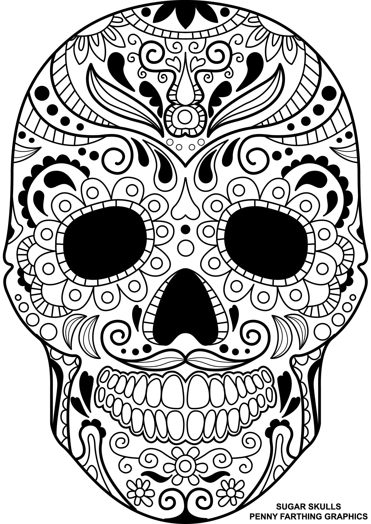 day of dead skull template day of the dead blank template imgflip regarding blank template of skull day dead