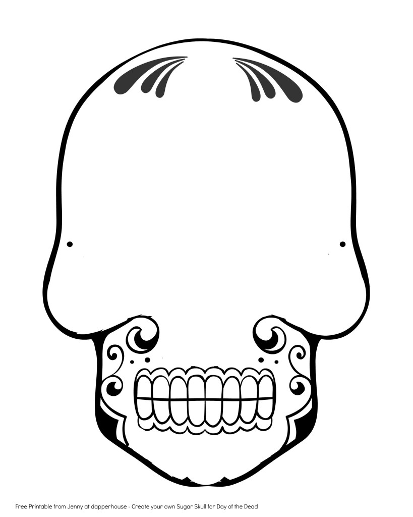 day of dead skull template sugar skull drawing template free download on clipartmag of dead template skull day