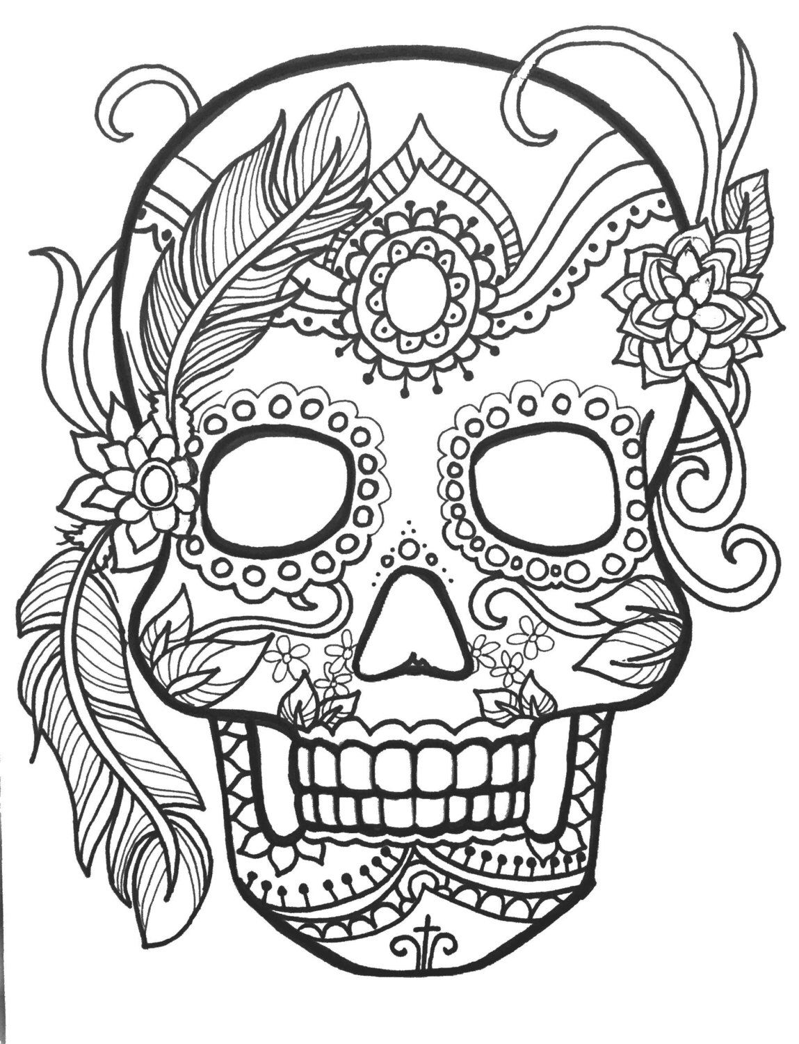 day of the dead skulls coloring pages 10 sugar skull day of the dead coloringpages original art the coloring dead day of pages skulls