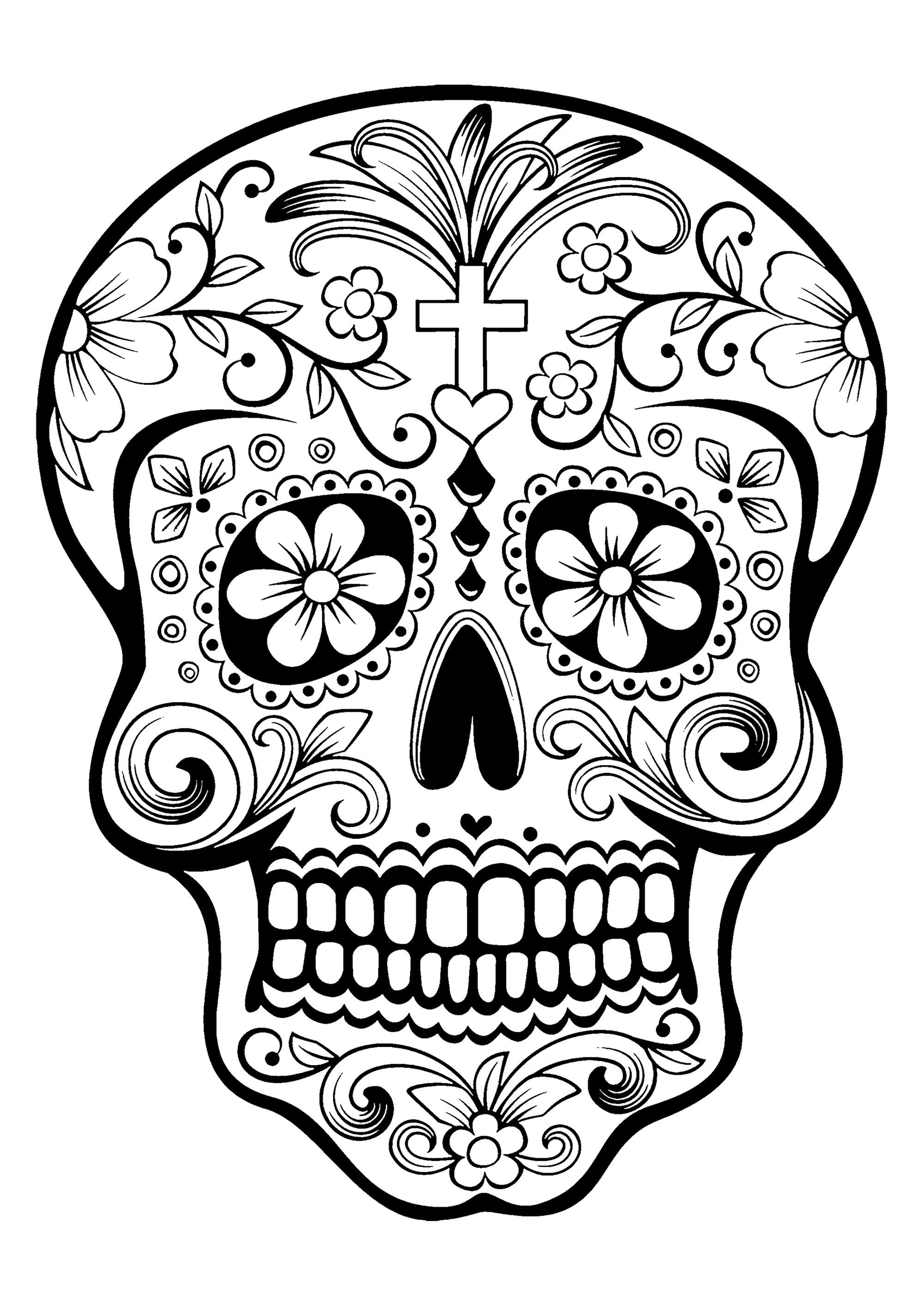 day of the dead skulls coloring pages day of the dead coloring pages getcoloringpagescom coloring of pages dead skulls the day