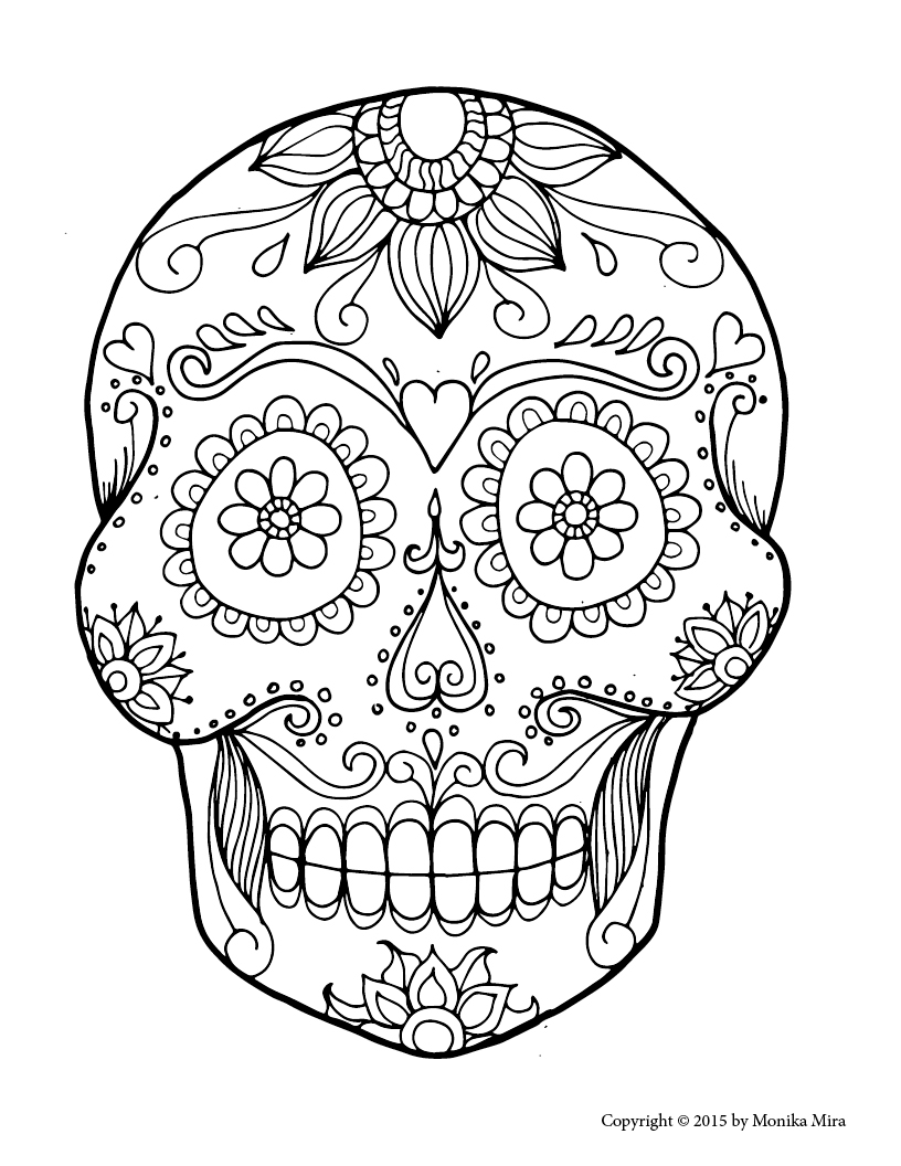 day of the dead skulls coloring pages day of the dead skeleton drawing at getdrawings free skulls dead day of pages the coloring