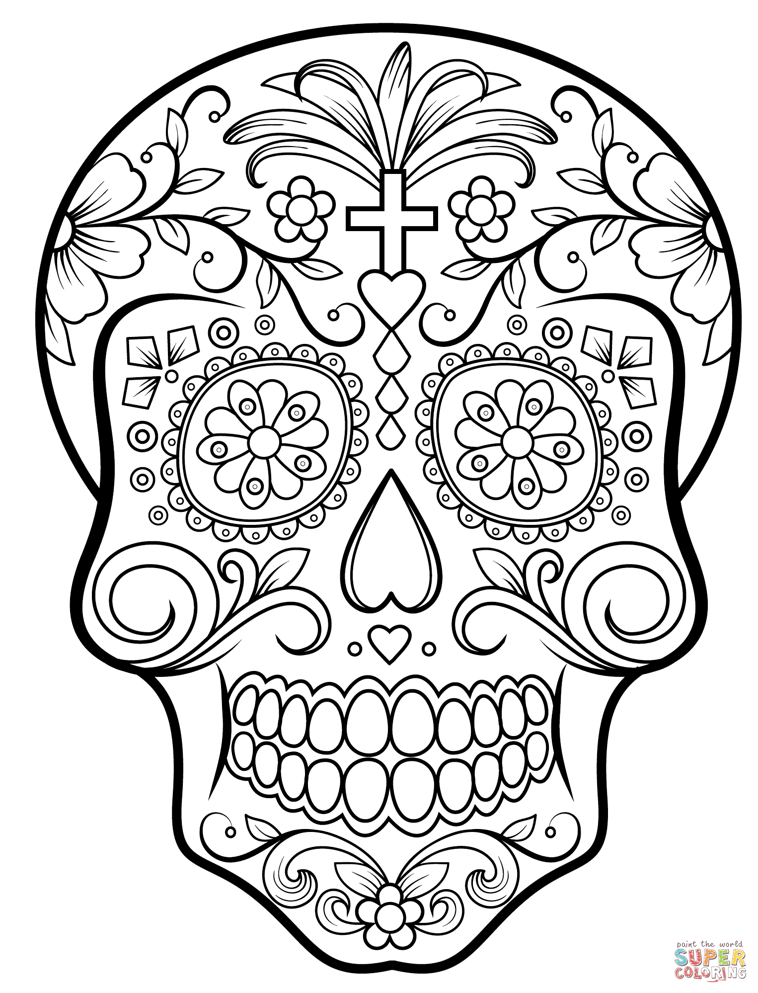day of the dead skulls coloring pages day of the dead sugar skull coloring page free printable day skulls of dead the coloring pages