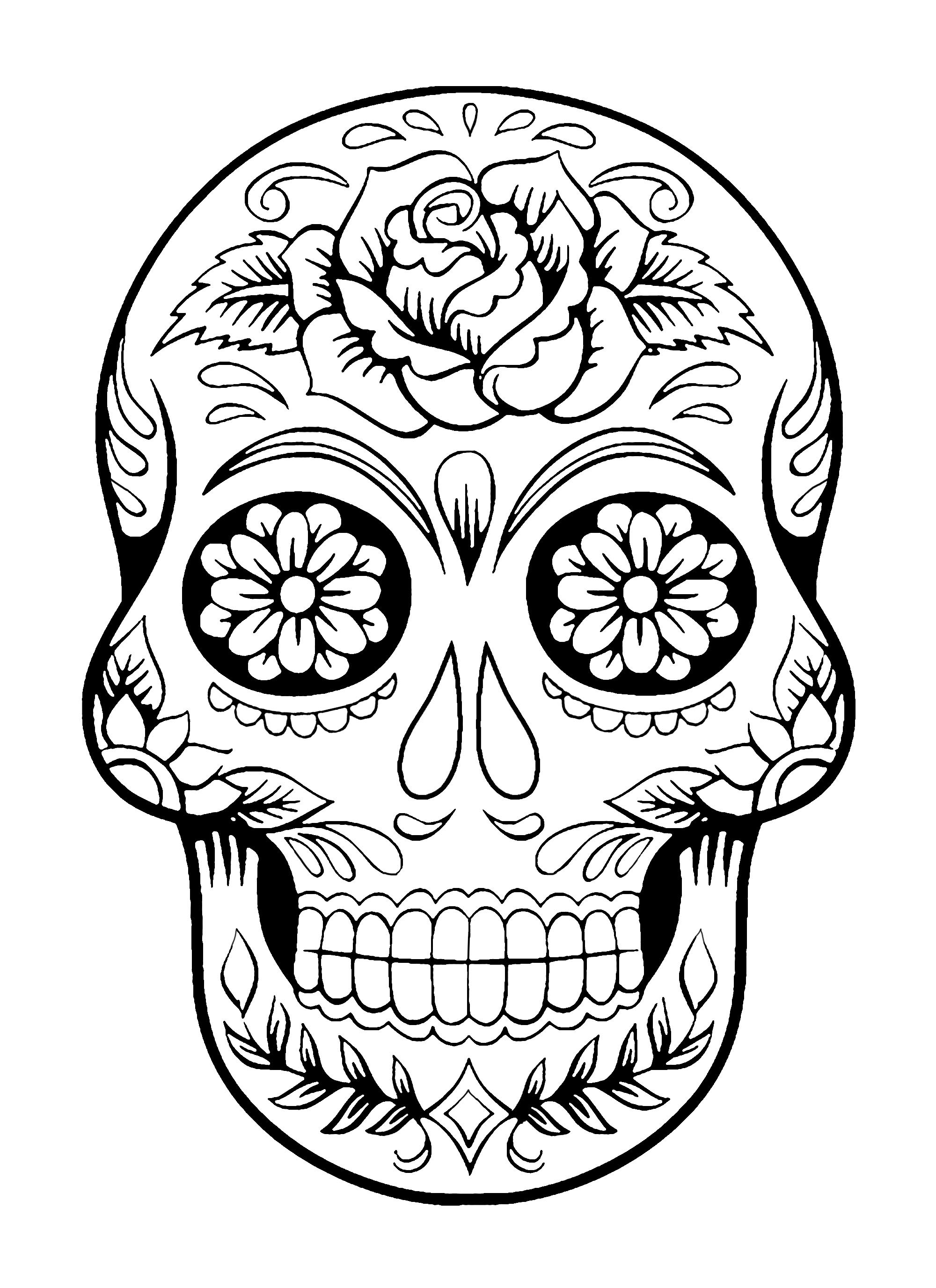 day of the dead skulls coloring pages day of the dead sugar skull coloring page free printable of pages day skulls the coloring dead