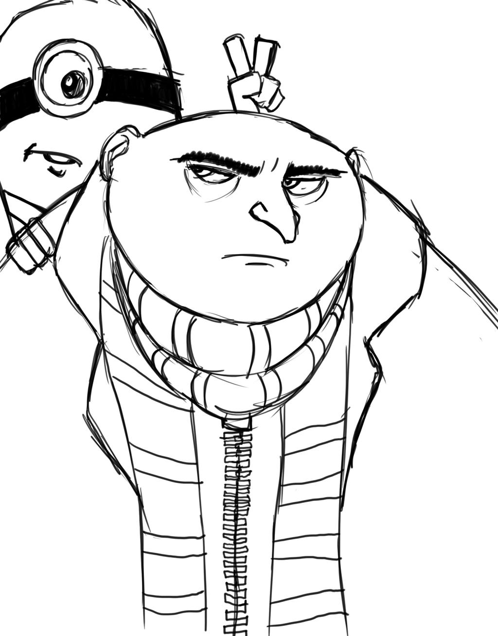 despicable me drawing how to draw gru despicable me drawing me despicable