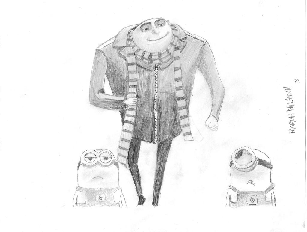 despicable me drawing minion despicable me by marcos prl on deviantart drawing despicable me